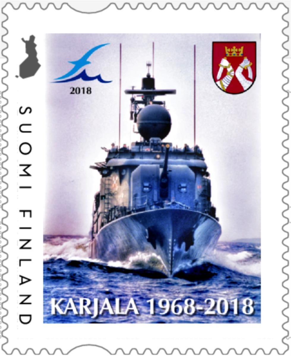 vuoden 2018 joulumerkki Näyttely ja postimerkki juhlistavat 50 vuotiasta tykkivene  vuoden 2018 joulumerkki